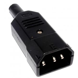 Фото1 ACP-301 - Штекер кабельный приборный 220B, 3 контакта, IEC 60320 С14