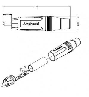 Фото7 ACPR-.. Разъем RCA кабельный, штекер, пайка, на кабель диам. 3.0- 6.5 мм