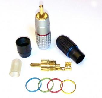 Фото2 AC-MR-37.. Разъём RCA штекер, кабельный, на кабель до 7 мм