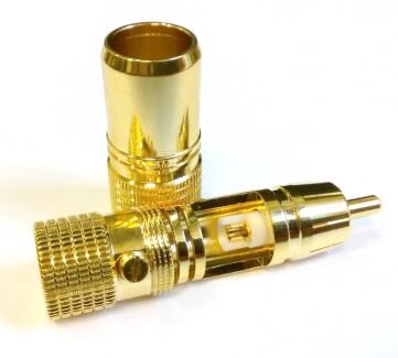 Фото2 AC-MR-70. Разъём RCA штекер, кабельный, цанговый, на кабель диам. до 8 мм