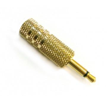 Фото1 AC-MR-314 - Jack 3.5 мм моно штекер, корпус - позолота, позолоченные контакты, покрытие - золото, на