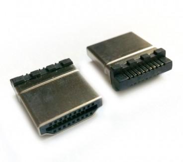 Фото1 VC-HDMC - Разъем HDMI штекер, контакти - покрытие золото