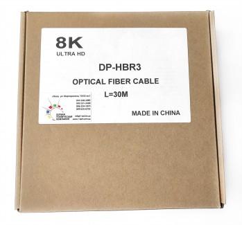 Фото8 DP2DP-FO-8K... - Цифровой оптический кабель DisplayPort, разрешение 8К, версия 1.2/1.4, штекер > ште