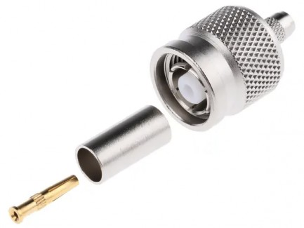 Фото3 J01010R000. Разъём R-TNC (корпус- штекер, ц.контакт- гнездо) кабельный, обжим, 50 Ом