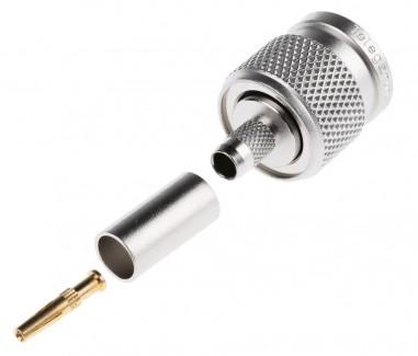 Фото2 J01010R000. Разъём R-TNC (корпус- штекер, ц.контакт- гнездо) кабельный, обжим, 50 Ом