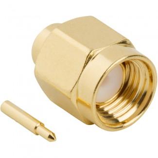 Фото1 J01150A01.1 Разъём SMA кабельный, штекер, ц.контакт- пайка, 50 Ом, IP68