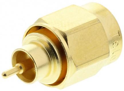 Фото2 J01150A01.1 Разъём SMA кабельный, штекер, ц.контакт- пайка, 50 Ом, IP68