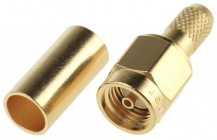 Фото1 J01150R0011 Разъём R-SMA корпус-штекер, ц.контакт- гнездо, кабельный, обжим, 50 Ом
