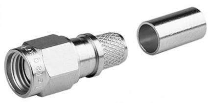 Фото2 J01150R0051 - Разъём R-SMA (корпус-штекер, ц.контакт- гнездо) кабельный, обжим, 50 Ом
