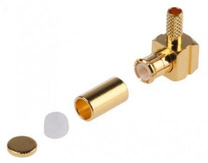 Фото2 J01270A02.. Разъем MCX кабельный, угловой штекер, обжим, 50 Ом