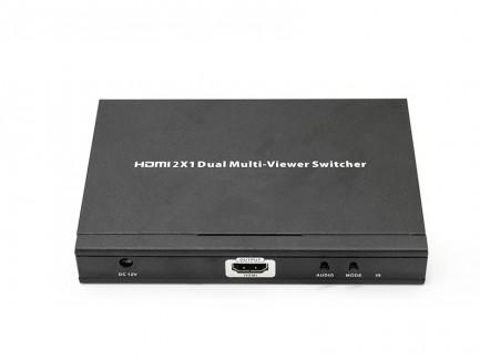Фото1 LKV201MS - Коммутатор-мультивьювер HDMI 1080p@60Hz, 2 х HDMI источника > 1 х HDMI дисплей