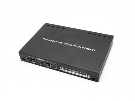 Фото2 LKV201MS - Коммутатор-мультивьювер HDMI 1080p@60Hz, 2 х HDMI источника > 1 х HDMI дисплей