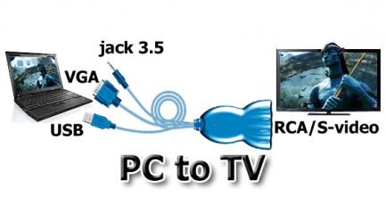 Фото2 LKV3000 -  Преобразователь аналоговых сигналов VGA + стерео звук (Jack3.5) в: Композитные видео, S-v