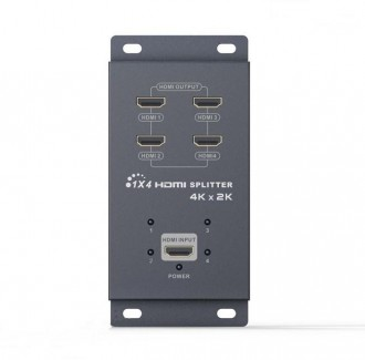 Фото1 LKV314A - HDMI сплиттер 1:4 в металлическом корпусе, 4К*2К, с поддержка 3D, возможность вертикальной