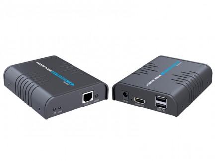 Фото1 LKV373KVM - Удлинитель HDMI v1.3 + KVM по одной витой паре CAT5 / 5e / 6 до 120 м.