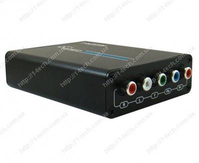 Фото2 LKV384 - Преобразователь цифровых сигналов HDMI в аналоговые Компонентные видео сигналы + стерео зву