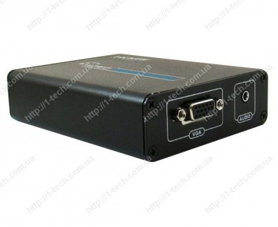 Фото1 LKV385 - Преобразователь цифрового сигнала HDMI в аналоговые сигнал VGA + стерео звук