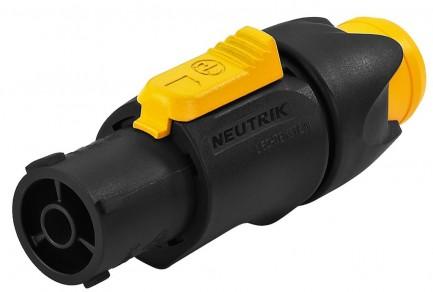 Фото1 NAC3FX-W - Кабельный разъем водонепроницаемый, серия powerCON TRUE1, гнездо
