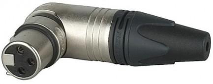 Фото3 NC3FRX.. Разъем XLR 3 гнездо, кабельный угловой, серия RX