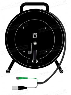 Фото1 1K-V1/A2RX5-0.0 3-кан. аудио-видео кабельная система на катушке (1х BNC гнездо, 1x XLR5 гнездо) > ко