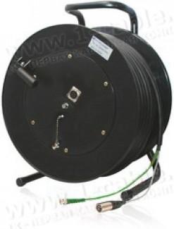 Фото2 1K-V1/A2RX5-0.0 3-кан. аудио-видео кабельная система на катушке (1х BNC гнездо, 1x XLR5 гнездо) > ко