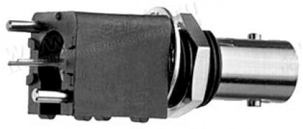 Фото1 J01001.0.0. Разъём BNC для установки на печатную плату, гнездо, пайка, 50 Ом