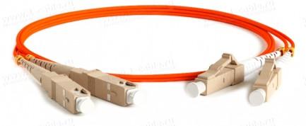 Фото1 1K-FM2-2x50/125-SC>LC-.. Кабель коммутационный, оптический, SC штекер > LC штекер, многомодовое воло