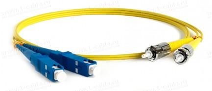 Фото1 1K-FS2-2x9/125-ST>SC-0.. Кабель коммутационный, оптический, ST штекер > SC штекер, одномодовое волок