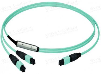 Фото1 L0083.A241. Патч-кабель оптический многоканальный переходный, разъемы: MPO 24 штекер > 2х MPO 12 ште