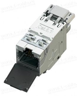 Фото2 J00029A8000 Разъем RJ45, гнездо, панельная вставка, серии AMJ Cat.8.1, экранированный, монтаж без ин