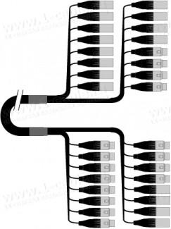 Фото1 1K-PW12/4XX-.. 16-кан.(12-IN/4-OUT) студийный балансный аудиомультикорный кабель, коса (12x XLR3 гне