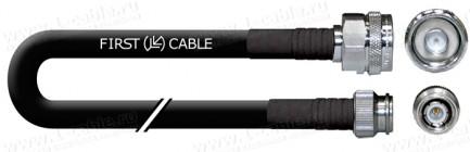 Фото1 1K-VT10-1. Кабель коаксиальный переходной 50 Ом, на основе кабеля RG-213, N штекер > TNC штекер