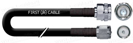 Фото1 1K-VT11-.. Кабель коаксиальный переходной 50 Ом, на основе кабеля RG-213, N штекер > UHF штекер