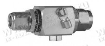 Фото1 J01028B0046 Грозоразрядное устройство с газовой капсулой, с креплением на панель, гнездо-штекер, N,