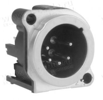Фото1 AC5MBV-AU-PRE XLR 5 штекер на панель в плату, тип B, вертикальная установка