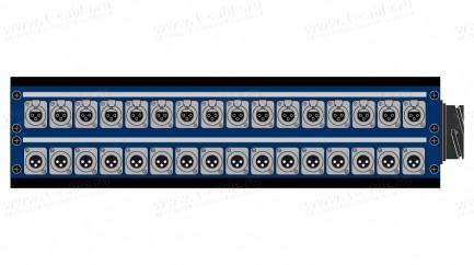 Фото2 1K-PB16/16-X. 32-кан.(16-IN/16-OUTкоммутационная коробка в сборе Panel Box (16x XLR3 гнездо, 16x XLR