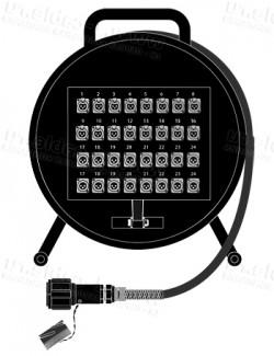 Фото1 1K-PW16/16RM-0.0 32-кан.(16-IN/16-OUT) студийная аудио мультикорная система на катушке (16x XLR гнез