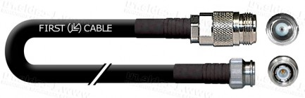 Фото1 1K-VTF25-.. Кабель коаксиальный переходной 50 Ом, эластичный, на основе кабеля LMR-400-UF, N гнездо