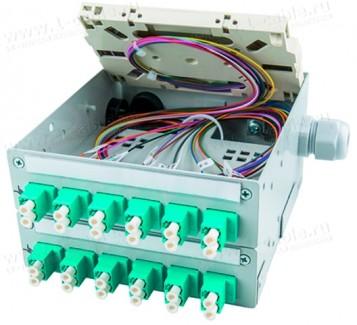 Фото1 H82050.010. Распределительный модуль с панельными разъемами, сплайс-кассета, металлический корпус, с