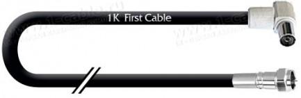Фото1 1K-VT27-0. Кабель Антенный 75 Ом, стандартный, F штекер > IEC гнездо