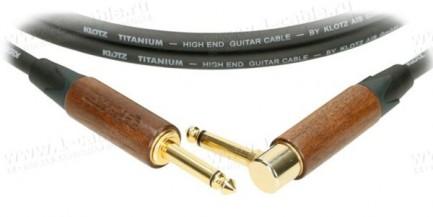 """Фото1 TIW0.0PR Гитарный кабель """"TITANIUM Walnut"""" c минимальной микрофонией, моно Phono Jack > моно угловой"""