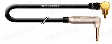 Фото1 1K-AIC1AA Межблочный кабель BASIC   RCA угловой штекер > Jack 6.3 моно угловой штекер