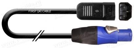 Фото1 1K-MP38 Кабель cиловой в резиновой изоляции H05RN-F   эластичный   IEC320 C14 штекер > Powercon А-ти