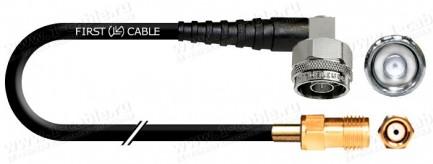 Фото1 1K-VX47LA Переходной коаксиальный кабель с низким затуханием 50 Ом | N угловой штекер > SMA гнездо