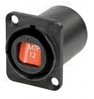 Фото1 NO..FDW-A Панельный оптический разъем opticalCON MTP® гнездо-гнездо   фланец D-типа