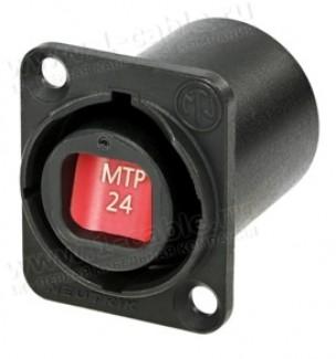 Фото2 NO..FDW-A Панельный оптический разъем opticalCON MTP® гнездо-гнездо   фланец D-типа