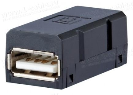 Фото1 Адаптер проходной USB гнездо-гнездо   модуль DAT Industry USB