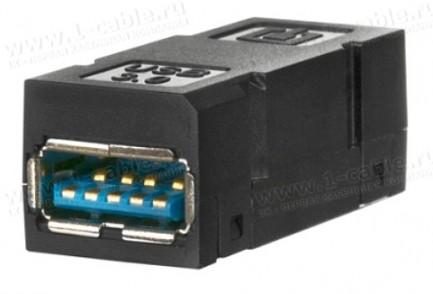 Фото2 Адаптер проходной USB гнездо-гнездо   модуль DAT Industry USB