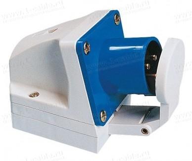 Фото1 Панельный накладной разъем CEE штекер   боковой ввод   защитная крышка