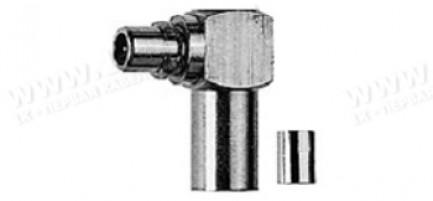 Фото1 J01340B0011 Кабельный угловой разъем MMCX · 50 Ом штекер   обжим /ц. контакт- пайка